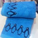 07-toalla-infantil-pinguinos-azul