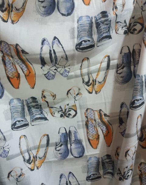 tejido estampado zapatos